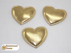 Мягкие сердечки золотые