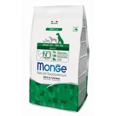 Monge Natural Superpremium Maxi adult полноценный корм для взрослых собак крупных пород с курицей и рисом 3 кг