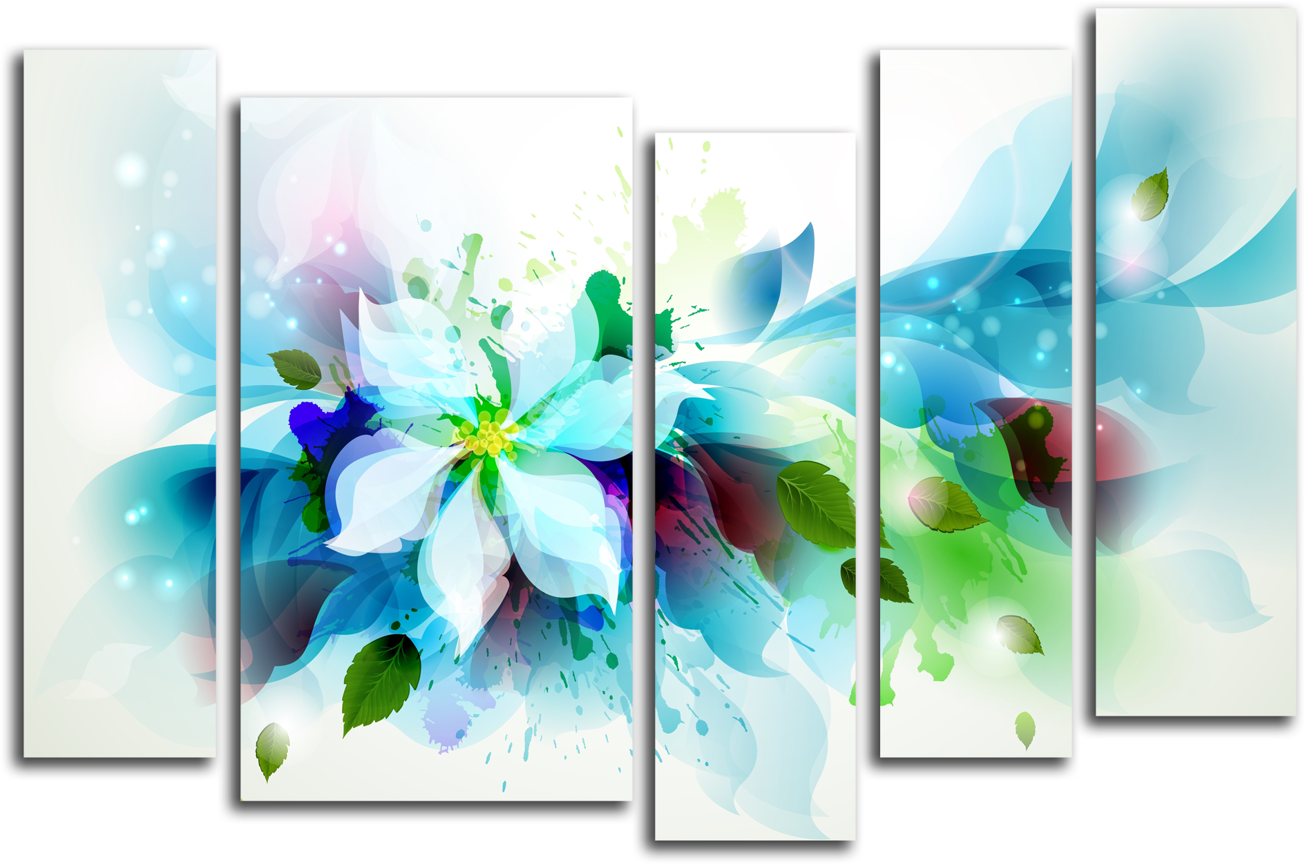 """Цветы Модульная картина """"Цветочный взрыв"""" М360.png"""