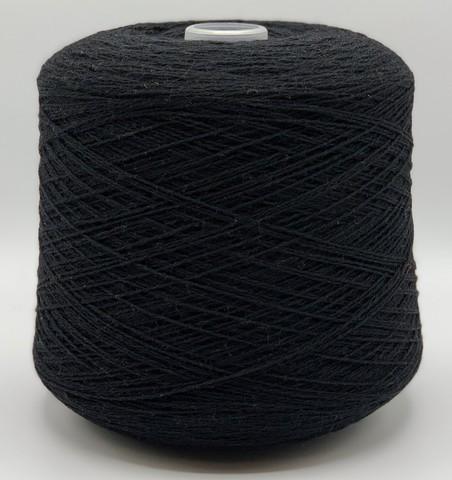 Бобинная пряжа JC Rennie (пр.Шотландия), art.2/11.3 SUPERSOFT, 565м/100гр, 100% шерсть, цвет- Черный, арт.1249