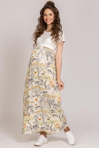Платье для беременных и кормящих 11709 белый