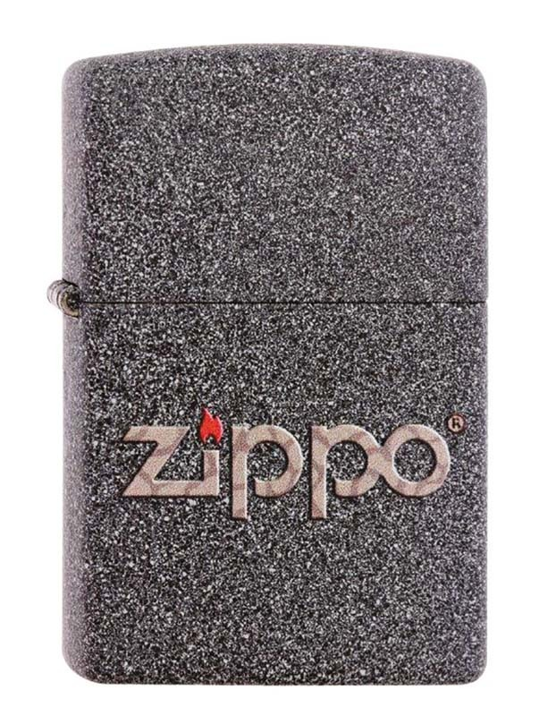 Зажигалка ZIPPO Classic Iron Stone™ Логотип-эмблема Zippo в виде змеиной кожи ZP-211 SNAKESKIN ZIPPO LOGO