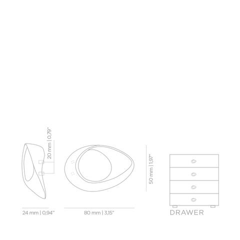Мебельная ручка PullCast INFINITY CM3016
