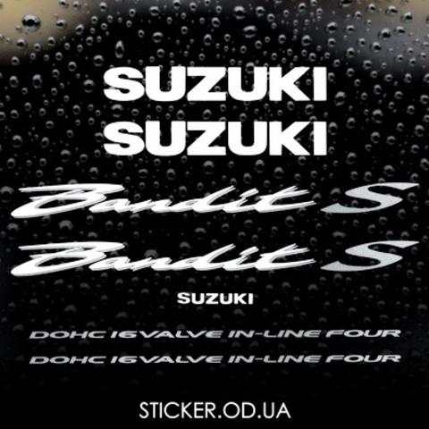Набор виниловых наклеек на мотоцикл SUZUKI BANDIT 600S, 2002