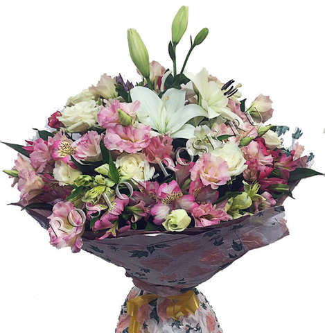 Цветочная композиция Радуга из цветов