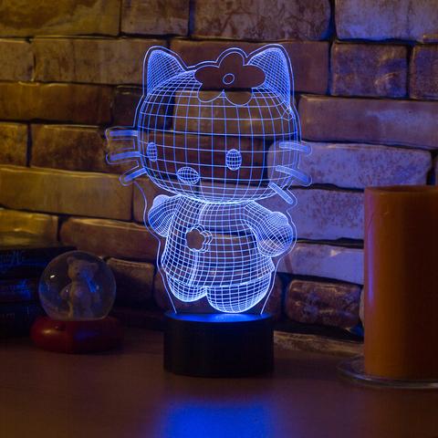 Лампа Hello Kitty 3D