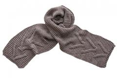 Вязаный шарф серый 7051