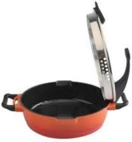 Сковорода глубокая с крышкой и двумя ручками 24cm 3,1LVirgo glass