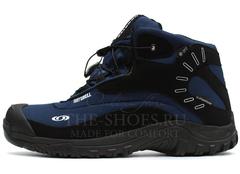 Ботинки Мужские Salomon SOFTSHELL Mid Navy Black