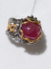 Хиллер (серебряное кольцо с позолотой)