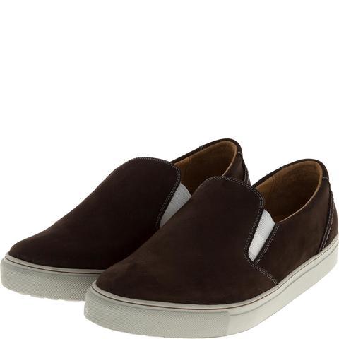 546308 полуботинки мужские коричневые (слипоны). КупиРазмер — обувь больших размеров марки Делфино