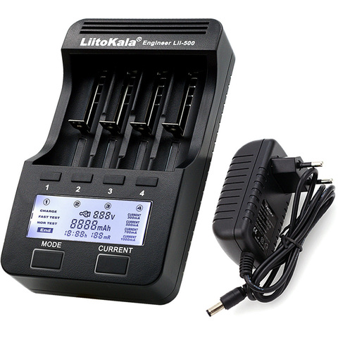 Зарядное устройство LiitoKala Lii-500 для Li-ion, NiMH аккумуляторов