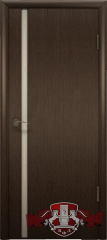 Дверь Владимирская фабрика дверей 8ДГ4 бел. Трипл., цвет венге, глухая