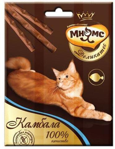 Мнямс Деликатес лакомые палочки для кошек с камбалой