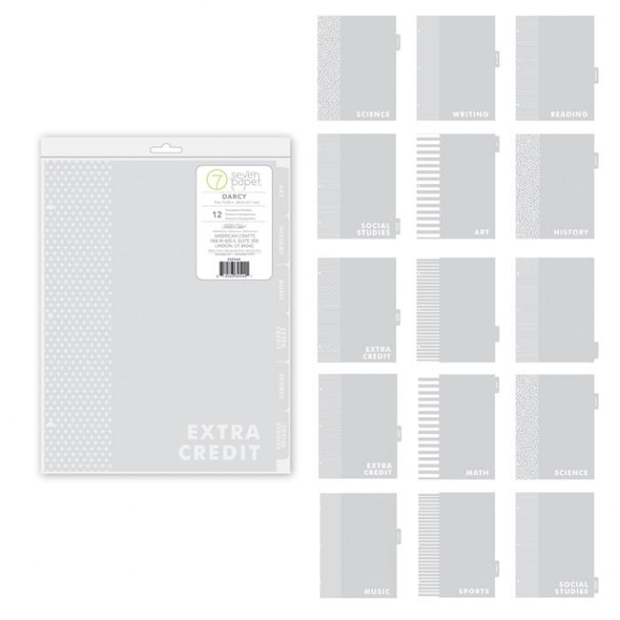 Ацетатные разделители с табами для альбомов 24*30 см