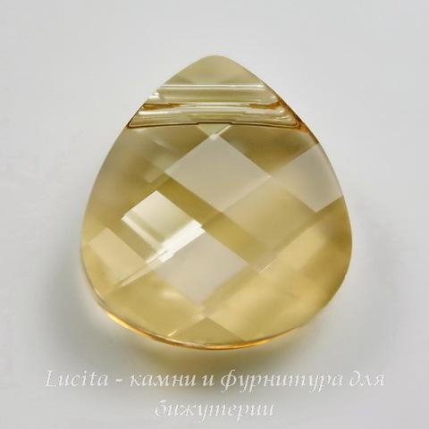 6012 Подвеска Сваровски Flat Briolette Crystal Golden Shadow (15,4x14 мм)
