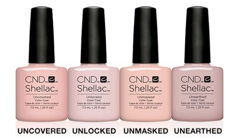 НАБОР CND SHELLAC NUDE COLLECTION