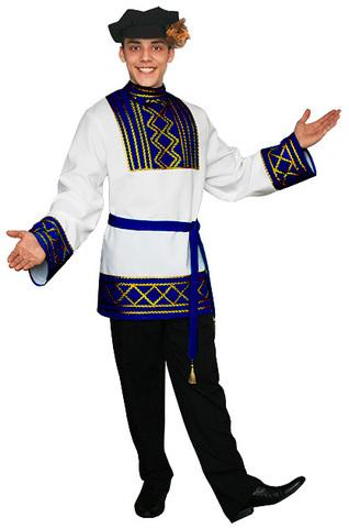 Русский народный костюм Ярослав синий