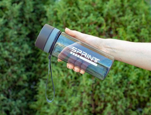 Бутылка POWCAN - 630 мл. SPRINT - Черный