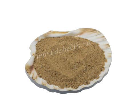 Песок натуральный тёмно-бежевый 300 гр.