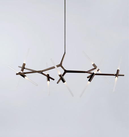 replica Lindsey Adelman 14 Bulbs Agnes Chandelier ( black )