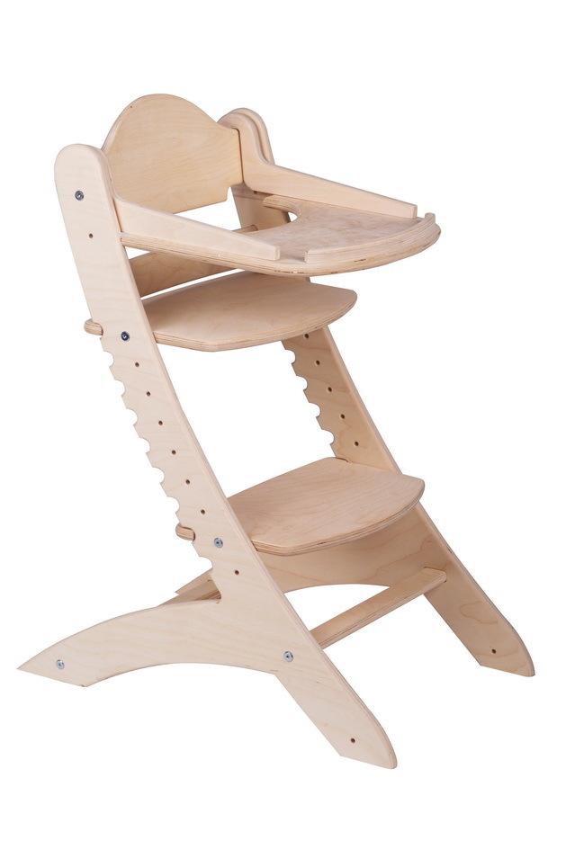Детский растущий стул Два кота М1 Нешлифованный