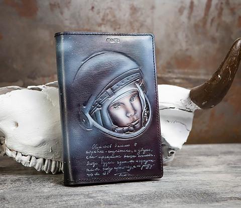 Подарочный ежедневник «Гагарин» с художественным раскрасом (A5)