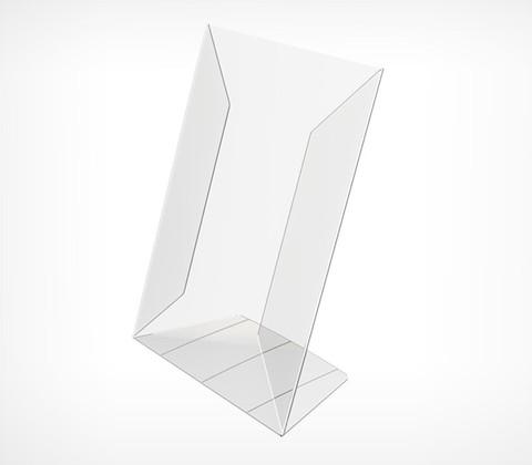 Подставка из ПВХ,  PVC-PRICER-A5  L-образная, вертикальная