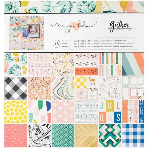 Набор односторонней бумаги- Gather  Maggie Holmes от Crate Paper 30х30см
