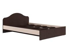 Кровать ЛУМИНО 140 дуб выбеленный / венге