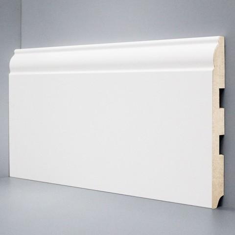 Белый ламинированный плинтус DEARTIO U104-150