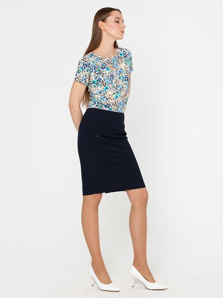 Юбка Б779-394 - Прямая классическая юбка прекрасно сочетается с любым верхом, подойдет как для офиса так и для повседневной жизни.