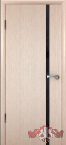 Дверь Владимирская фабрика дверей 8ДГ5 чёрн. Трипл., цвет беленый дуб, глухая