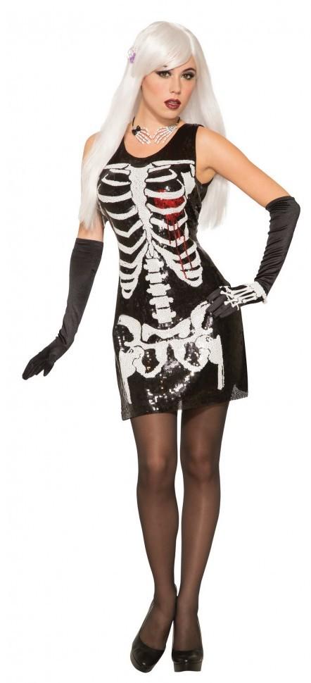 Платье-Скелет Кровавое Сердце
