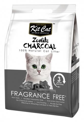 Kit Cat Zeolite Charcoal Frangrance Free цеолитовый комкующийся наполнитель - 4 кг 4 кг