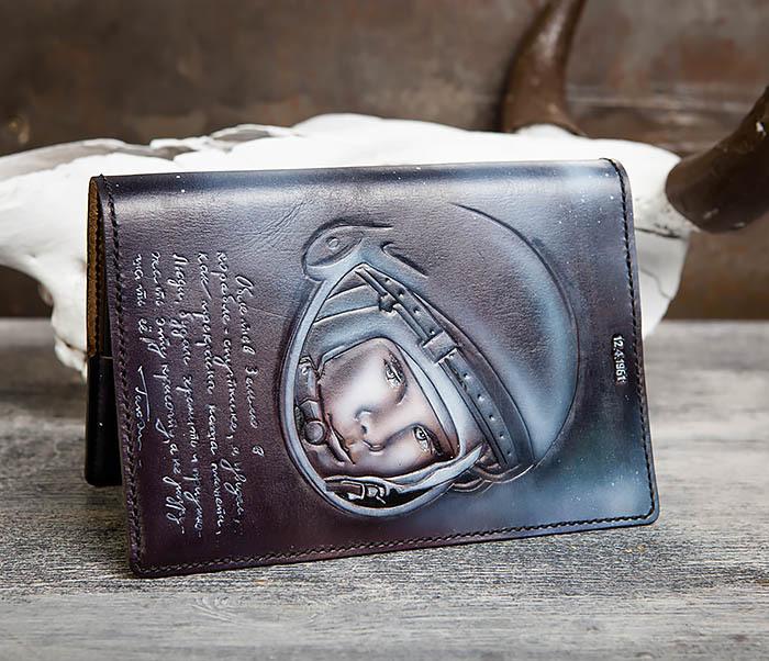 BC202 Подарочный кожаный ежедневник «Гагарин» с художественным раскрасом (A5) фото 04