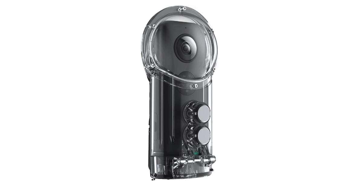 Камера панорамная Insta360 ONE X Dive Combo вид спереди