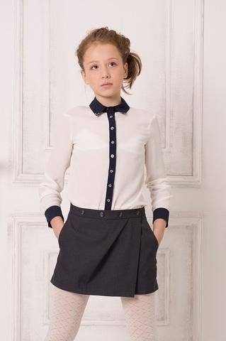 Баловень Юбка-шорты для девочки Ю25.0 серый меланж