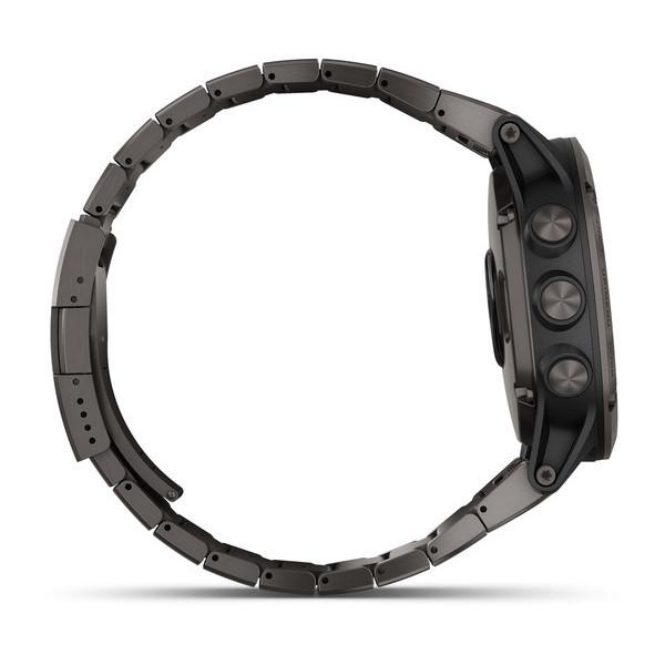 Fenix 5X Plus Sapphire титановый серый DLC с титановым DLC ремешком