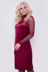 """Обалденное платье для Ваших лучших выходов """" в свет""""! Мягкий бархат идеально ложится по фигуре. Сетка стрейч идеально дополнит наряд. Длина платья: 104см."""