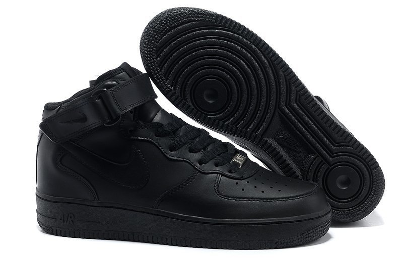 Nike Air Force 1 Mid '07 High (all black) - (001)