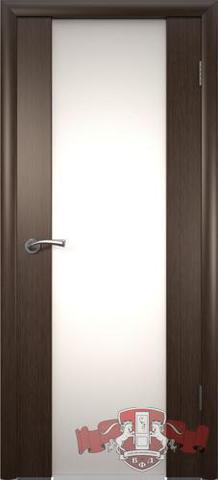 Дверь Владимирская фабрика дверей 8ДО4 бел. Трипл., цвет венге, остекленная