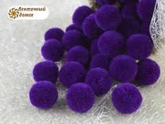 Помпоны кашемировые фиолетовые 20 мм