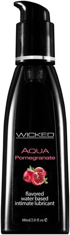 Лубрикант с ароматом граната Wicked Aqua Pomegranate - 60 мл.