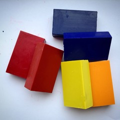 Мелки восковые блоковые 6 цветов Waldorf, без коробки (Stoсkmar)