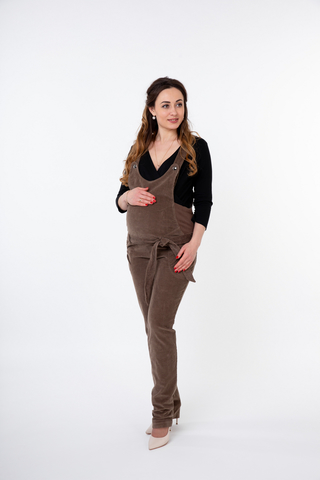 Комбинезон для беременных 04499 коричневый