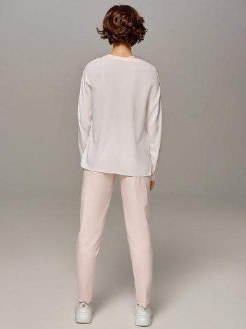 Женская молочно-розовая блузка LE TRICOT - фото 2