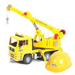 Bruder Автокран MAN и жёлтая каска (01-973)