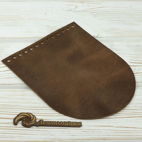 """Клапан для сумочки кожаный """"Crazy Horse"""" 19,5 см на 15,5 см"""