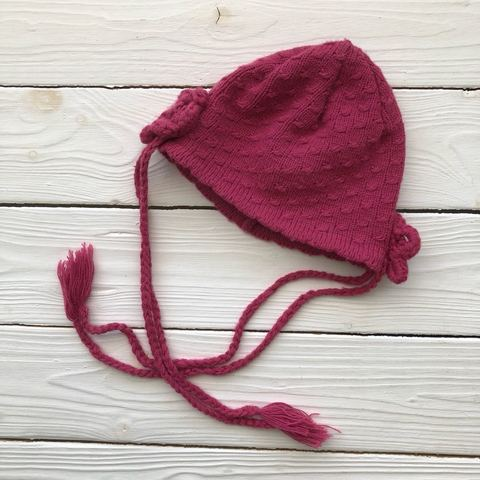 Модная вязаная шапочка для девочки на 1.5 года от Dominika